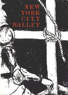 1968 After George Segal 'New York City Ballet' Black & White Serigraph