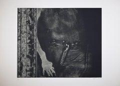 Girl in Doorway - Original Etching by George Segal - 1976