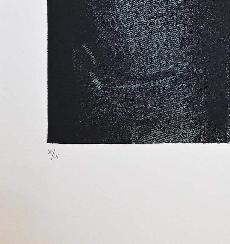 Man in Green Shirt - Original Etching by George Segal - 1976 For Sale 1