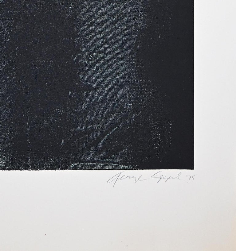 Man in Green Shirt - Original Etching by George Segal - 1976 For Sale 2