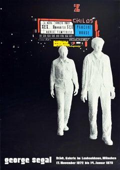 Original Vintage Poster George Segal Sculpture Pop Art Exhibition Pancake House