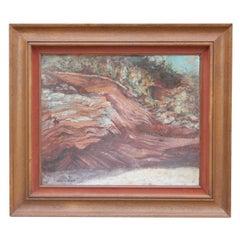 """Sedimentary Rock, Strata"" Desert Landscape Painting"