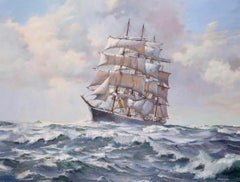 Barque at Sea