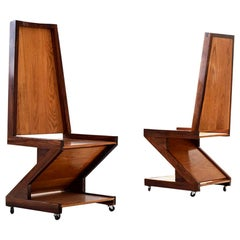 """George Shoemaker """"Zig Zag Chairs"""""""