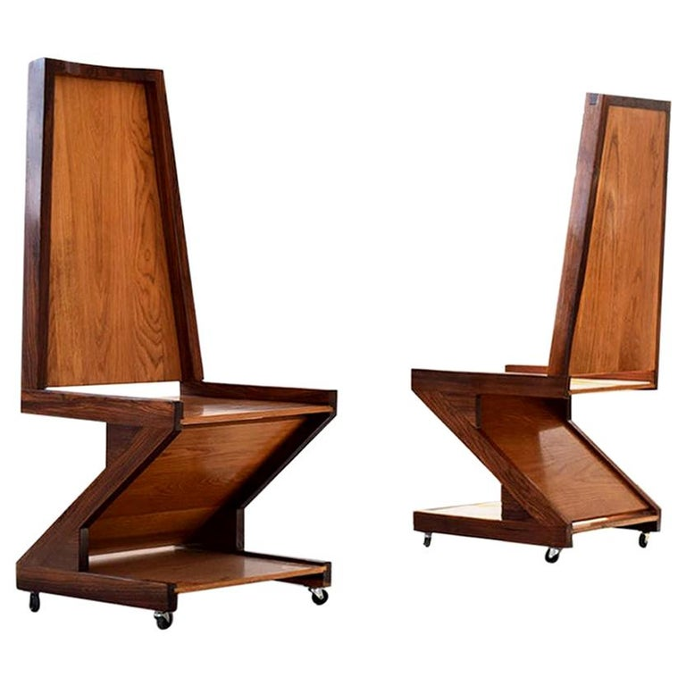 """George Shoemaker """"Zig Zag Chairs"""" For Sale"""