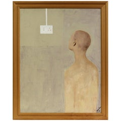 George Simmons, Oil on Board, The Light Switch, circa 1996