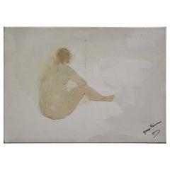 George Simmons, Oil on Canvas, Seated Figure, circa 2007