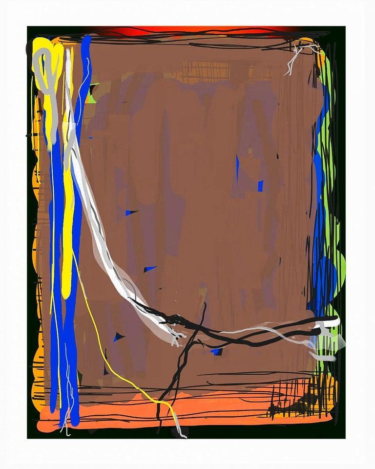 Digital Artwork -- Brown Bomber 2019 - Print by George Simmons