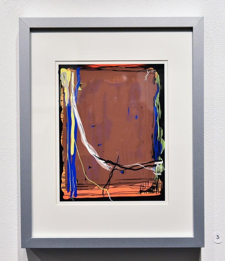 George Simmons Abstract Print -  Digital Artwork -- Brown Bomber 2019