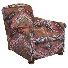 George Smith Kilim Upholstered English Country House Club Armchair
