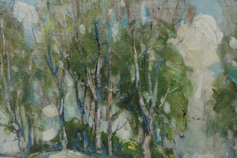 Working Horses in Scottish Landscape - Scottish 1920s art Impressionist painting For Sale 1