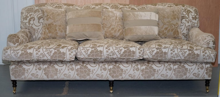 Incredible George Smith Scroll Arm Three Seater Sofa Paisley Upholstery Fabric Inzonedesignstudio Interior Chair Design Inzonedesignstudiocom