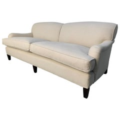 "George Smith Signature ""Standard-Arm"" Large 2.5-Seat Sofa in Pale Linen"