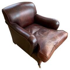 George Smith Standard Arm Leather Armchair