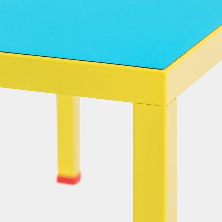 Painted George Sowden 'Violetta' Memphis Milano Table, 2018 For Sale