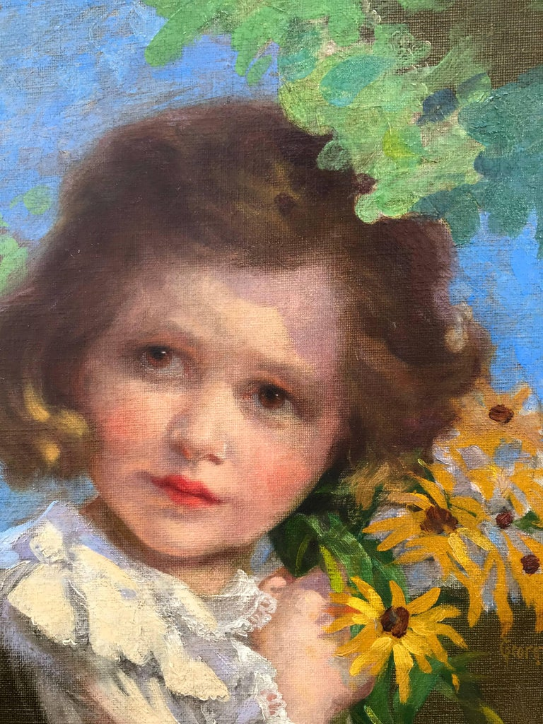 """Girl with Black-eyed Susans"" For Sale 1"