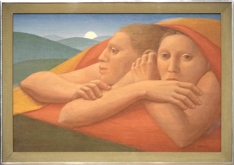 Moon Rise - Painting by George Tooker