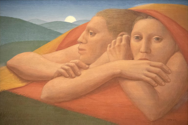 George Tooker Portrait Painting - Moon Rise