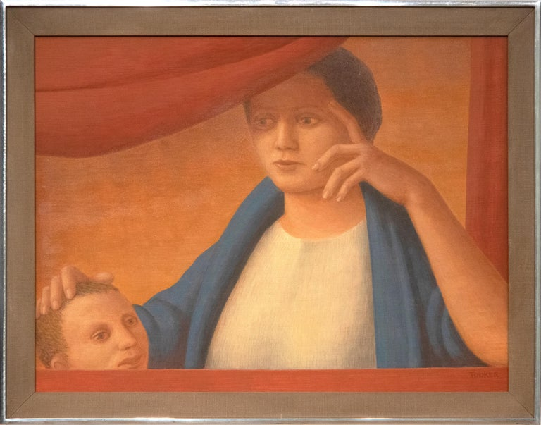 Woman and Child - Painting by George Tooker