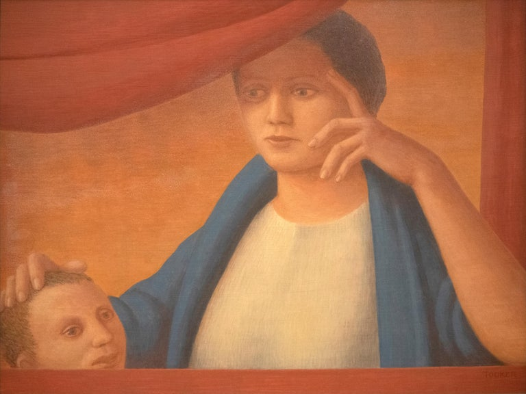 George Tooker Figurative Painting - Woman and Child