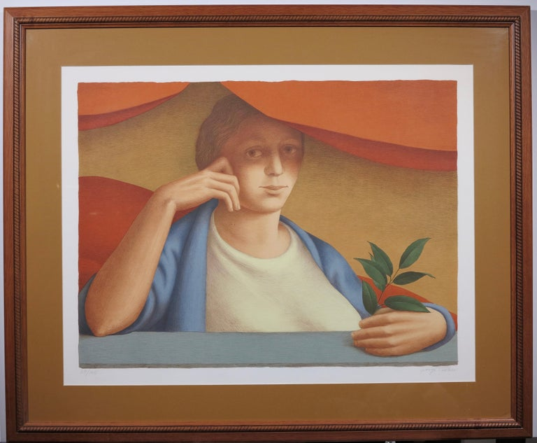 Woman With A Sprig Of Laurel - Print by George Tooker
