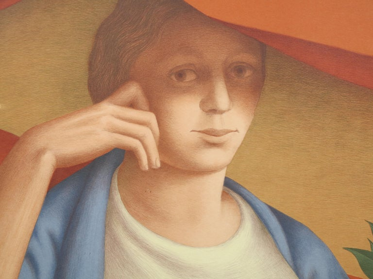 Woman With A Sprig Of Laurel - American Realist Print by George Tooker