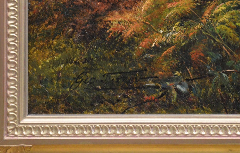 Froggatt, Derbyshire - Large 19th Century Victorian Landscape Oil Painting For Sale 7