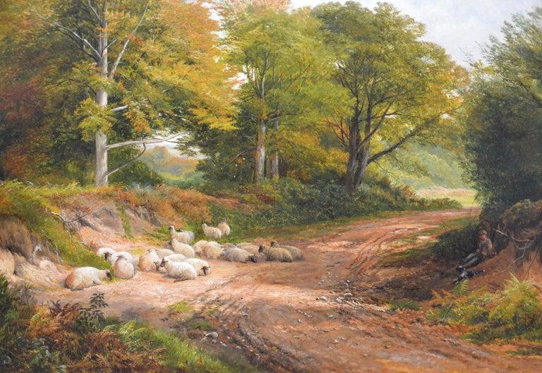 Froggatt, Derbyshire - Large 19th Century Victorian Landscape Oil Painting For Sale 1