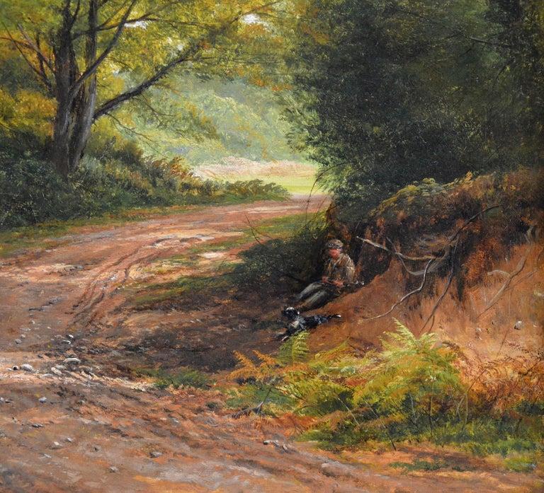 Froggatt, Derbyshire - Large 19th Century Victorian Landscape Oil Painting For Sale 2