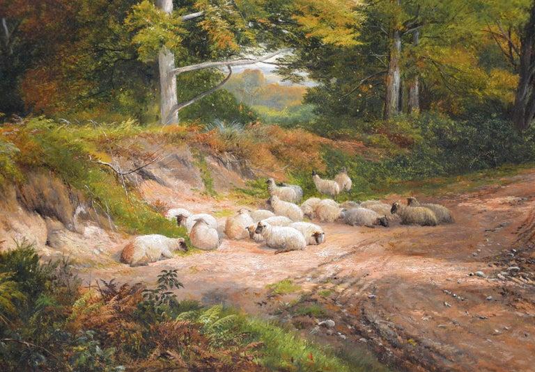 Froggatt, Derbyshire - Large 19th Century Victorian Landscape Oil Painting For Sale 3