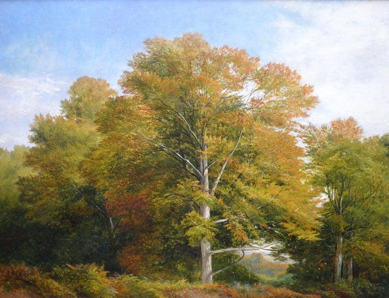 Froggatt, Derbyshire - Large 19th Century Victorian Landscape Oil Painting For Sale 4