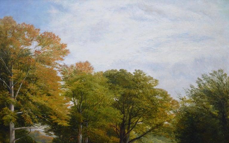 Froggatt, Derbyshire - Large 19th Century Victorian Landscape Oil Painting For Sale 5