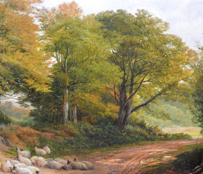 Froggatt, Derbyshire - Large 19th Century Victorian Landscape Oil Painting For Sale 6