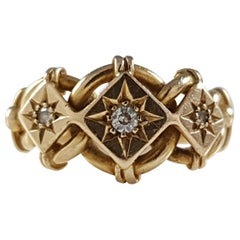 George V 18 Karat Yellow Gold and Diamond Ring Chester, 1915