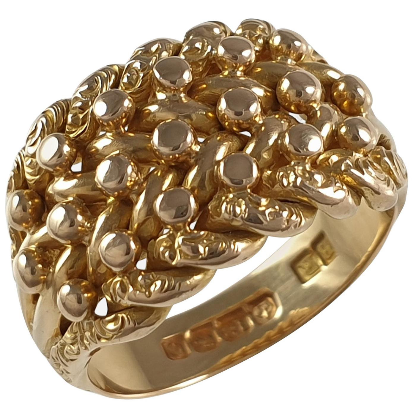 George V 18ct Yellow Gold Keeper Ring, 1913