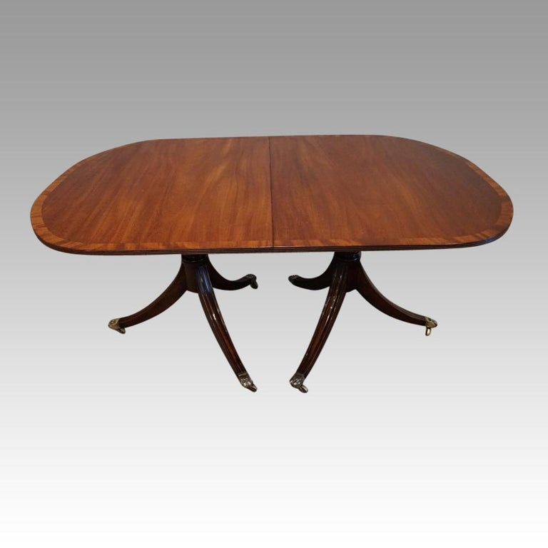 George V Mahogany Pedestal Dining Table 4