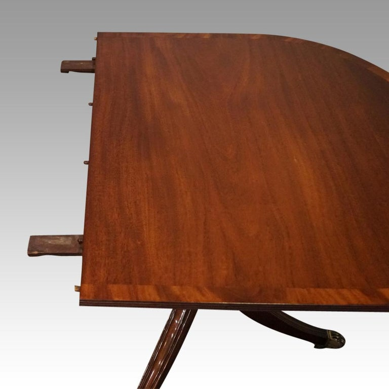 George V Mahogany Pedestal Dining Table 5