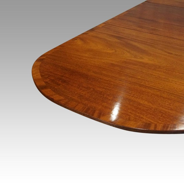 George V Mahogany Pedestal Dining Table 7