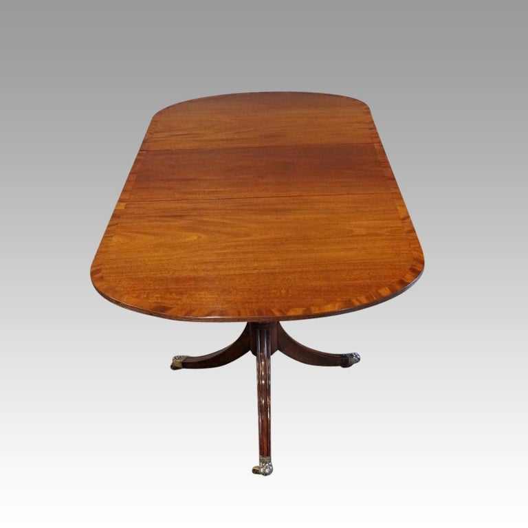 George V Mahogany Pedestal Dining Table 1