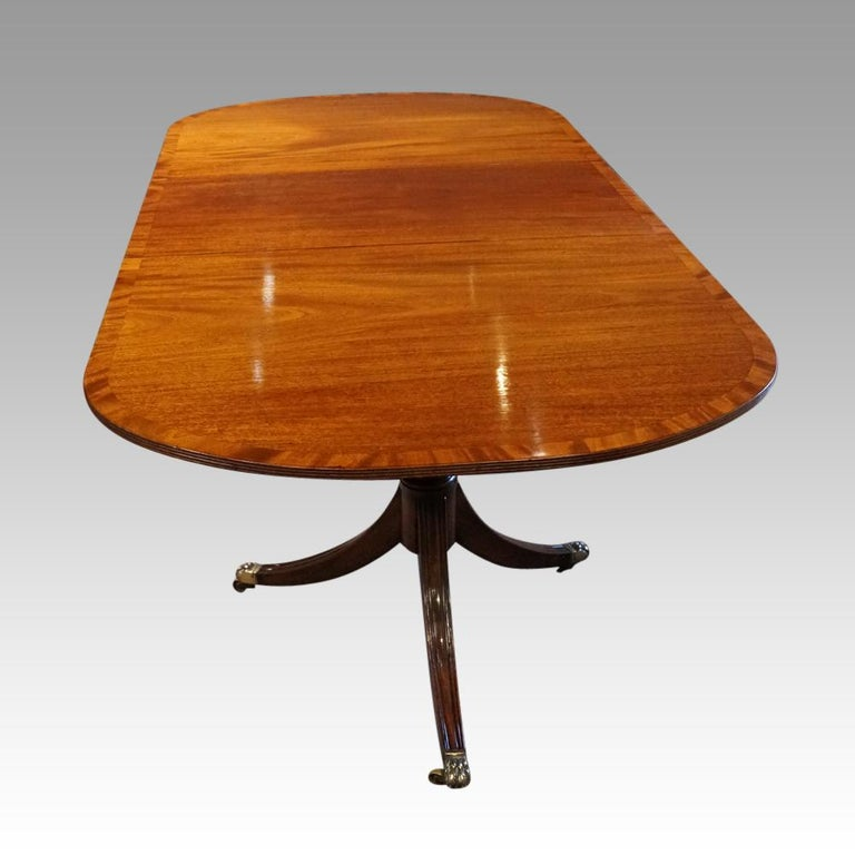 George V Mahogany Pedestal Dining Table 2