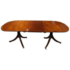 George V Mahogany Pedestal Dining Table