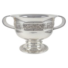 George V Sterling Silver Celtic Revival Bowl with Handles, 1935