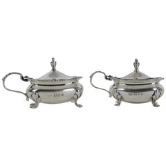 Antique Sterling Silver Mustard Pots from the Goldsmiths & Silversmiths Co Ltd