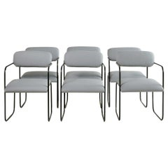 George Veronda for Roger Brown Dining Chairs in Italian Leather, Set of 6