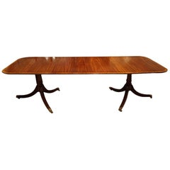 George VI English Georgian Style Mahogany Country House Dining Table