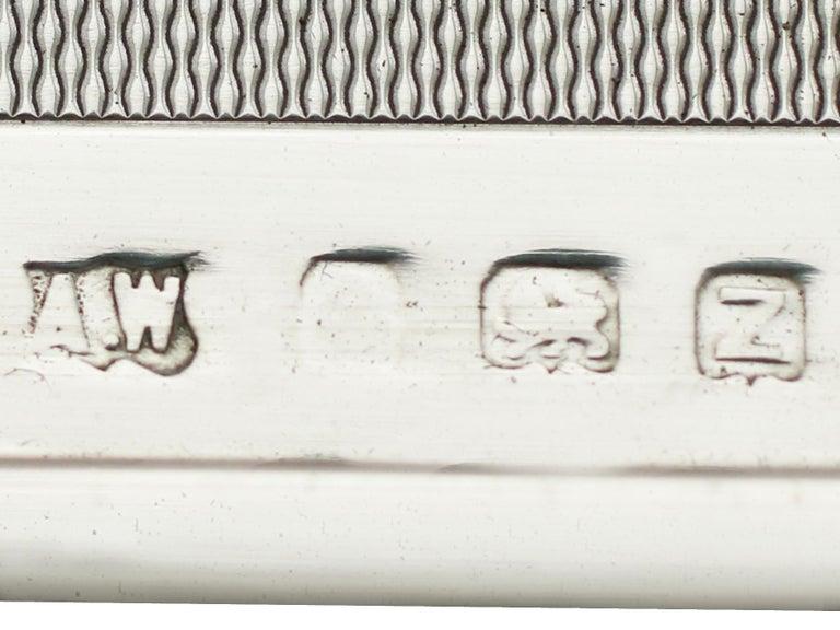 George VI Sterling Silver and Enamel Cigarette Case For Sale 5