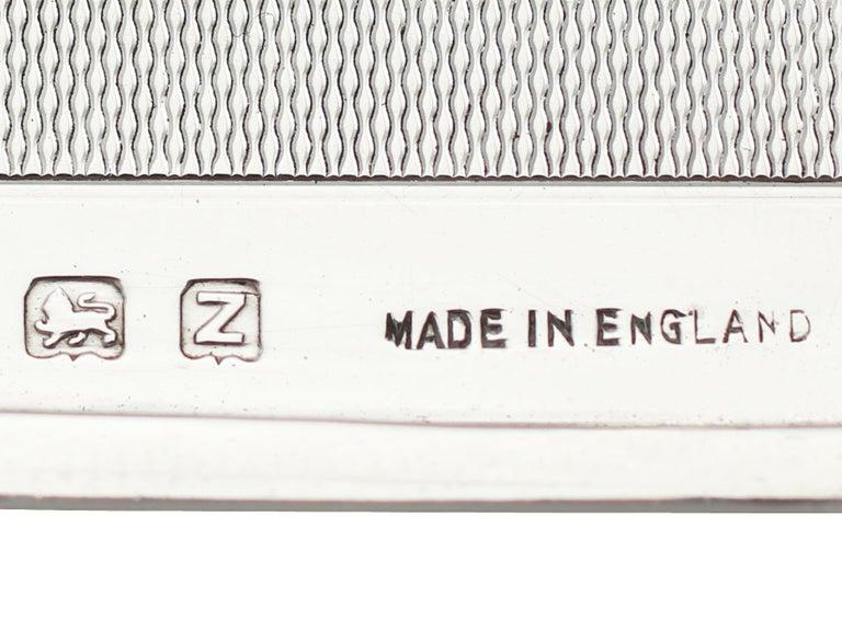 George VI Sterling Silver and Enamel Cigarette Case For Sale 6
