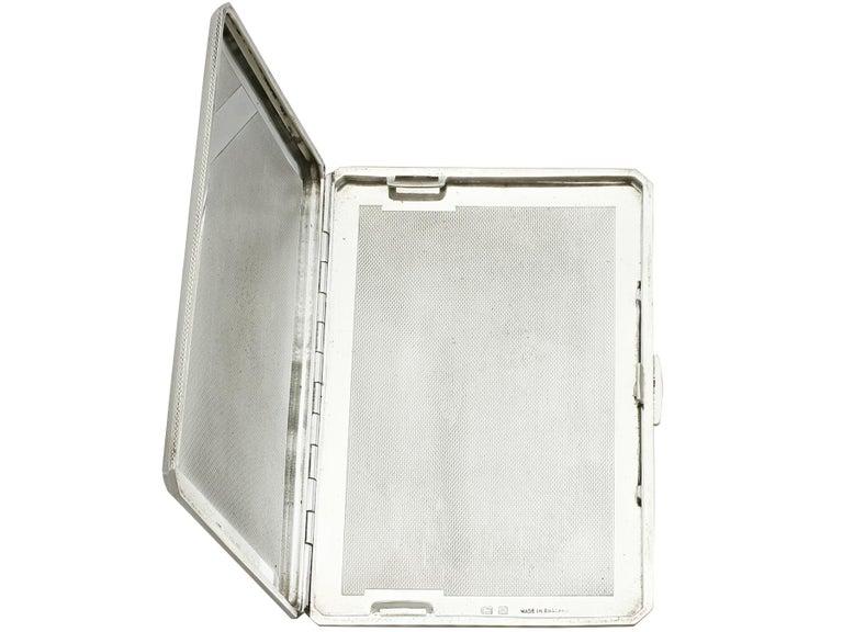 George VI Sterling Silver and Enamel Cigarette Case For Sale 2