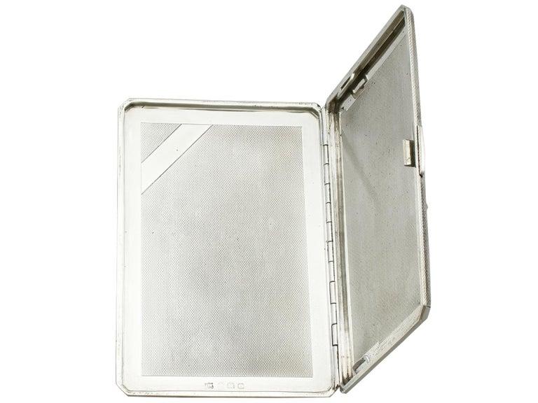 George VI Sterling Silver and Enamel Cigarette Case For Sale 3