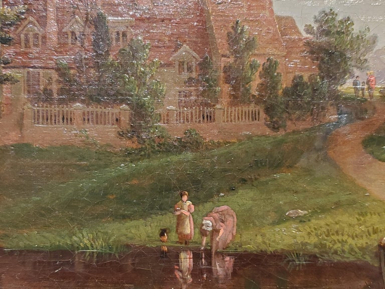 George Vincent Panoramic Landscape painting of the River Yare in Norwich England For Sale 2
